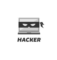 hacker logo design vector image