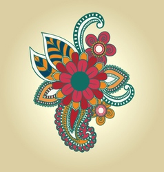Hand draw henna floral design element tattoo vector