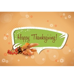 Happy thanksgiving day with sticker vector