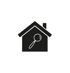 home with lupe icons vector image