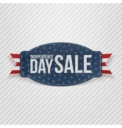 Independence Day Sale greeting Tag vector image