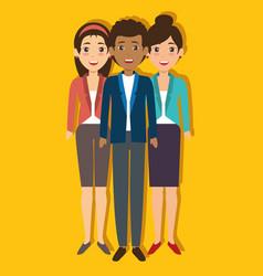 international business team vector image