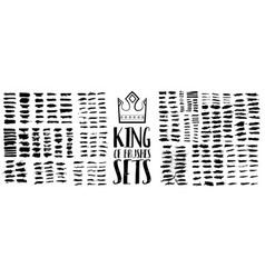 king brush sets vector image