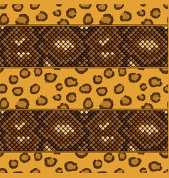 Leopard and snake skin seamless pattern vector