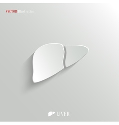 Liver icon - white app button vector image