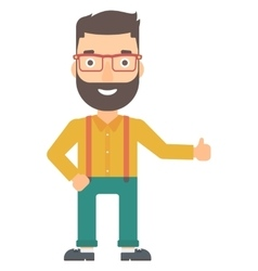 Man showing thumbs up vector