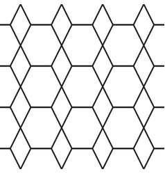 monochrome seamless pattern with geometric figures vector image