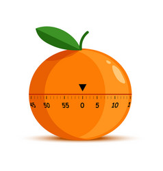 orange shape timer or time measuring tool isolated vector image