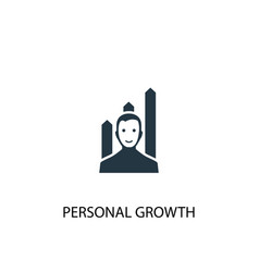 personal growth icon simple element vector image