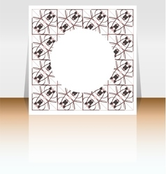 Presentation of flyer design content background vector image vector image