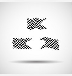 racing background set collection of 3 checkered vector image