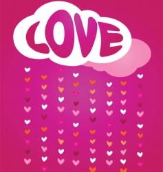 Raining love vector