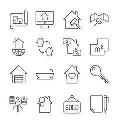 Real estate buying selling and renting signs set vector