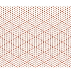 Red Retro Isometric Seamless Grid Layout - Thirty vector image