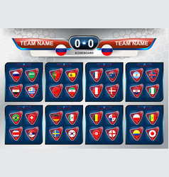 scoreboard and national flag vector image