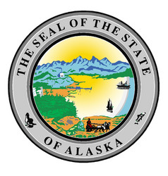 Seal of the state of alaska vector