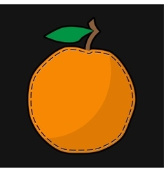 Seam orange with shadow vector