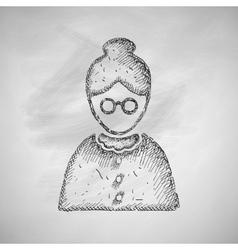 Senior citizens icon vector
