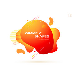 set liquid color abstract geometric shapes vector image