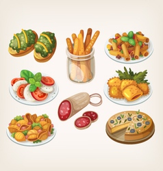 Set of italian food vector