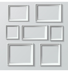 set white photo frames vector image