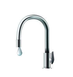 shiny faucet vector image