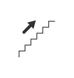 stairs upstairs line icon simple modern flat for vector image