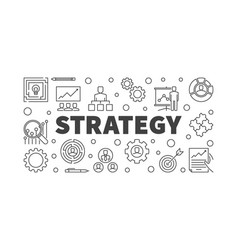 strategy outline concept or vector image