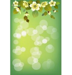Summer holidays background sakura vector