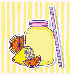 summer lemonade juice vector image