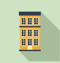 Swedish apartments building icon flat style vector