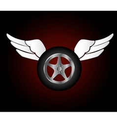 Tire design vector image