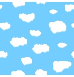 Unique clouds seamless pattern vector