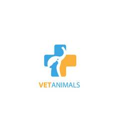 vet animals logo vector image