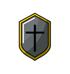 Video game shield protection element icon vector