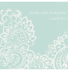 Vintage lace ornament vector
