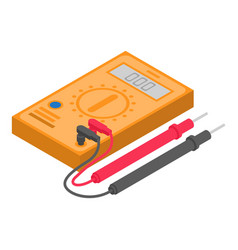 Voltage tester icon isometric style vector
