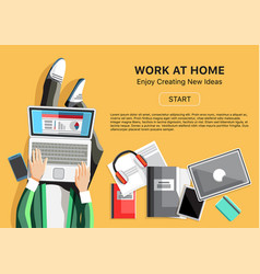 work at home concept with man vector image