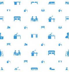workplace icons pattern seamless white background vector image