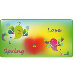 bird spring vector image