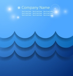 blue abstract background with water concept vector image