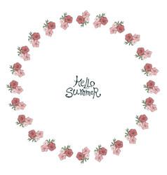 circle floral frame vector image