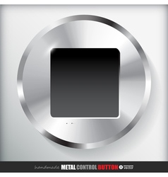 Circle Metal Stop Button Applicated for HTML and vector image