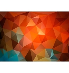 Colorful triangular background for business vector image
