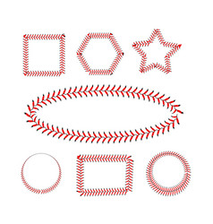 lace from a baseball on a white background vector image