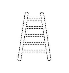 ladder sign black dashed vector image
