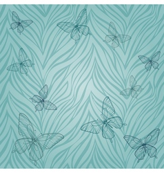 seamless pattern with butterflies of vector image