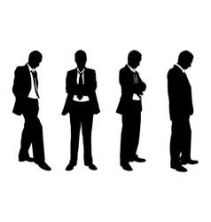 set of business people posing vector image vector image
