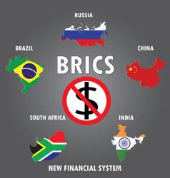 Brics countries infographics vector