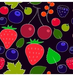Colorful berries seamless pattern vector image
